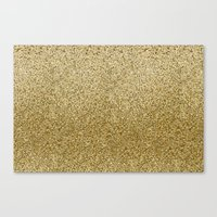 gold glitter Canvas Prints featuring .::Gold Glitter::. by MartiniWithATwist