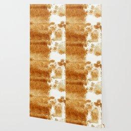 Golden Brown Cow Hide Wallpaper