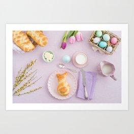 Easter breakfast Art Print