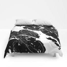 Halifax - Minimalist City Map Comforters