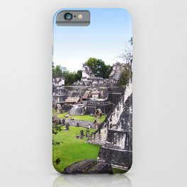 Tikal Guatemala Mayan Ruins iPhone Case