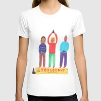 Toblerone. Womens Fitted Tee LARGE White