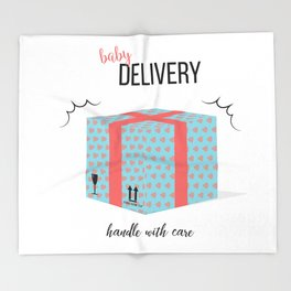 Baby delivery Throw Blanket
