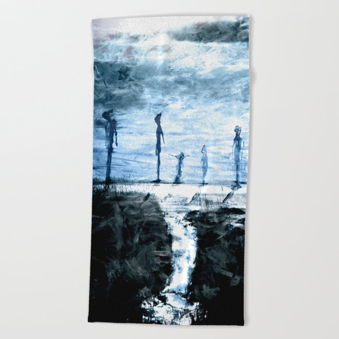 unstableness Beach Towel