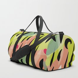 Splatter Burn on Neon Chartreuse Duffle Bag