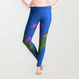 Blue Cactus Leggings
