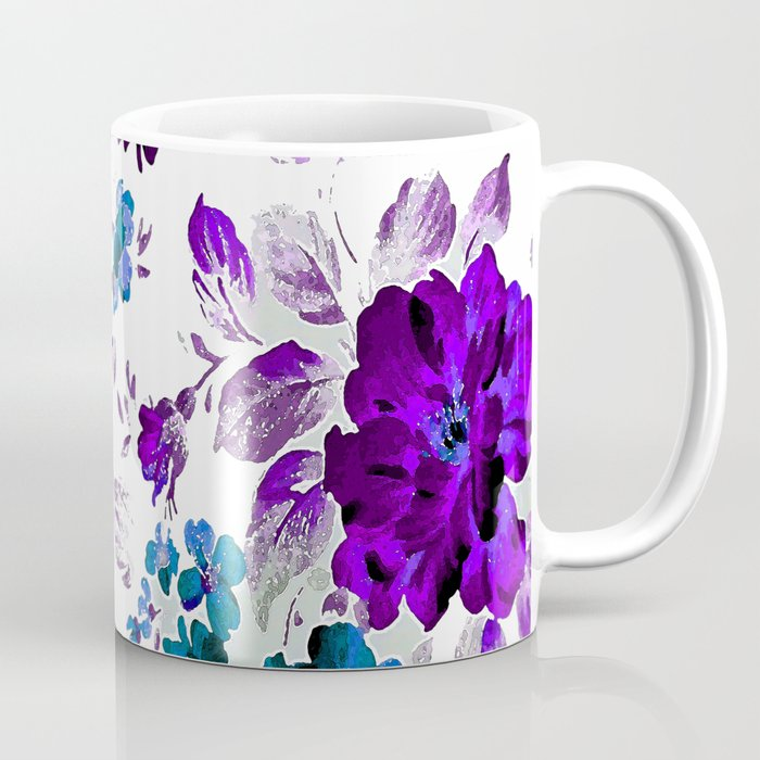 ROSES PURPLE AND BLUE Coffee Mug