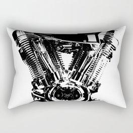 Motorcycle Engine Rectangular Pillow