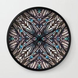 kaleidoscope - Fractal - Mandala - Digital Painting Wall Clock
