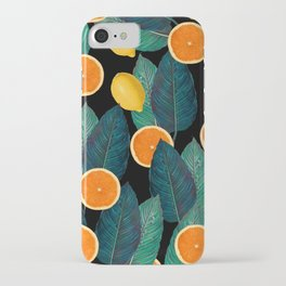 Lemons And Oranges On Black iPhone Case