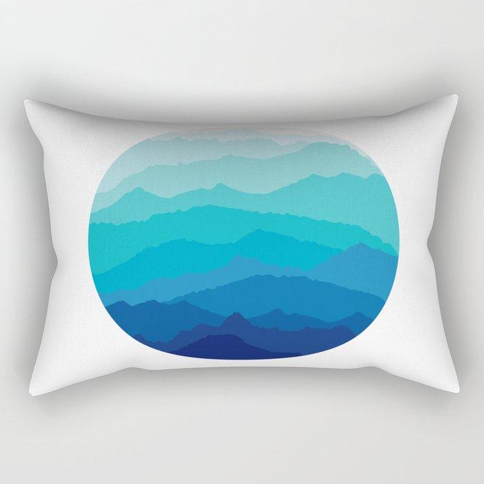 Blue Mist Mountains Rectangular Pillow