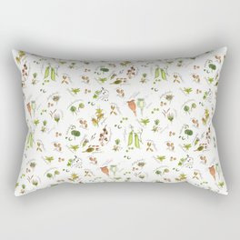 flower's seeds and seedpods Rectangular Pillow