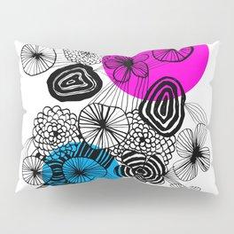Black flowers Pillow Sham