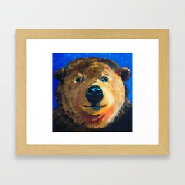 Mr. Bear Framed Art Print