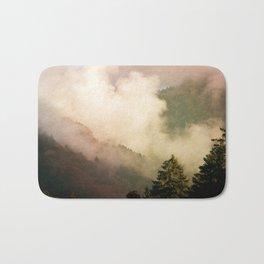 fog competes with sun Bath Mat