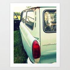 Old VW squareback  Art Print