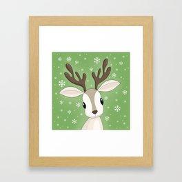 Cute Reindeer Framed Art Print
