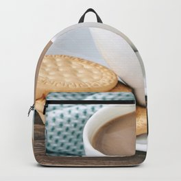 Coffee with milk and cookies Backpack
