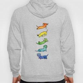 Watercolor Dachshunds Hoody