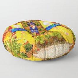 Frida's Garden, Frida Kahlo Landscape Painting by Jeanpaul Ferro Floor Pillow