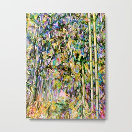 Bamboo background in nature Metal Print