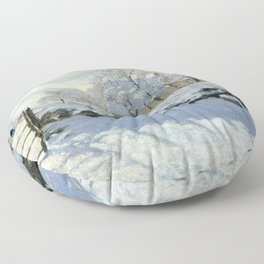 Claude Monet - The Magpie Floor Pillow