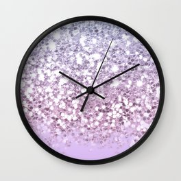 Faux Sparkly Pastel Unicorn Ombre Wall Clock