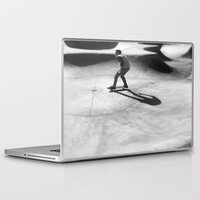 skateboard Laptop & iPad Skins featuring #Skateboard by Yancey Wells