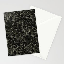 Abstract Collage Patchwork Pattern Stationery Cards