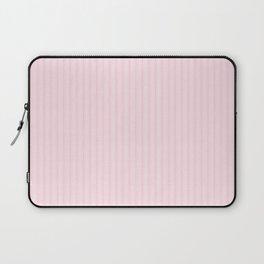 Light Soft Pastel Pink Mattress Ticking Stripes Laptop Sleeve
