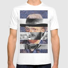 Van Gogh's Self Portrait & Clint Eastwood (2) X-LARGE Mens Fitted Tee White