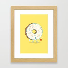 The Sleepy Donut Framed Art Print