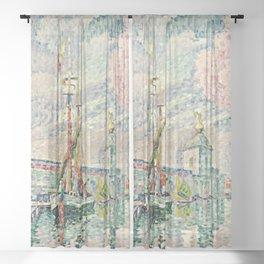 """Paul Signac """"La Dogana,Venice"""" Sheer Curtain"""