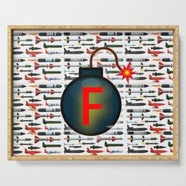 F Bomb Serving Tray