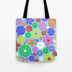 Colourful Colorful Flowers Pattern Tote Bag
