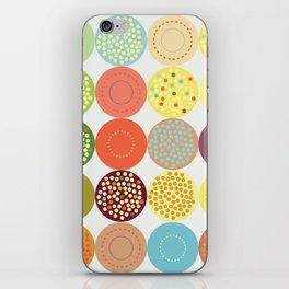Circle pattern iPhone Skin