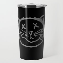 cat cartoon face Travel Mug