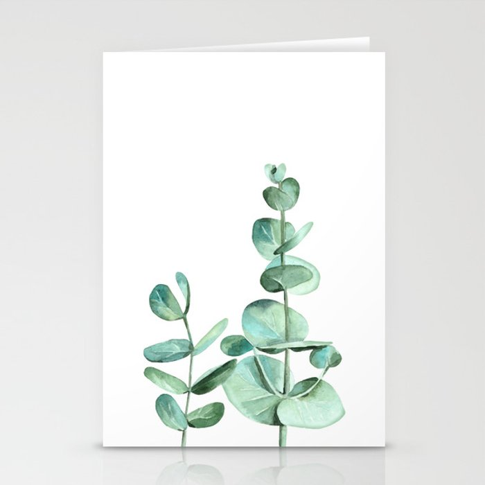 eucalyptus leaves stationery cards by asolo society6