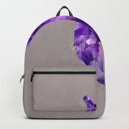 polygon heart // ultraviolet & silver Backpack