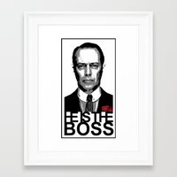 boardwalk empire Framed Art Prints featuring Boss of the Boardwalk by DomaDART