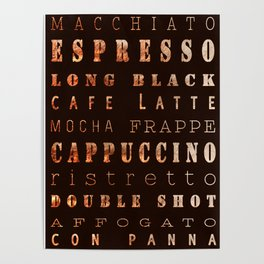 Coffee Types Poster Poster