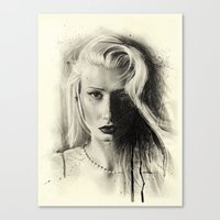 iggy azalea Canvas Prints featuring Iggy by Creadoorm