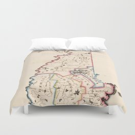 Vintage Map of New Hampshire (1819) Duvet Cover