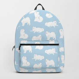 Samoyeds Print Backpack