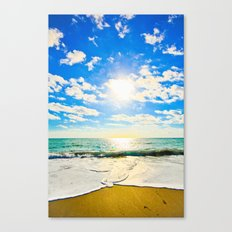 Ft. Pierce Florida Beach Morning Sun Canvas Print