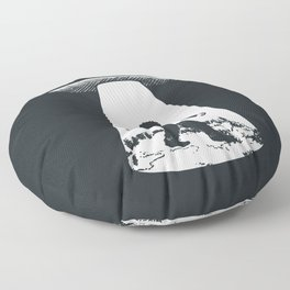 Bigfoot abducted by UFO Floor Pillow