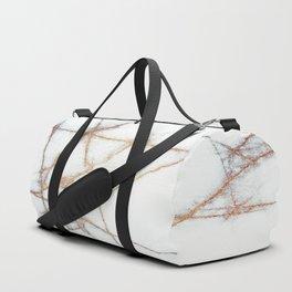 Marble Gold Metallic Flake Duffle Bag