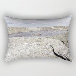 Granite Pool in the Clouds Rectangular Pillow