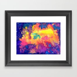 deep space - tie dye watercolor abstract Framed Art Print