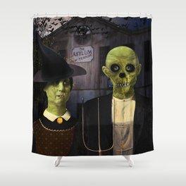 American Gothic Halloween Shower Curtain